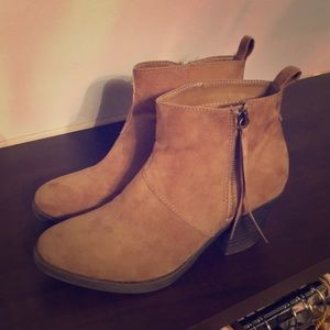 Forever 21 Brown Faux Suede Boots